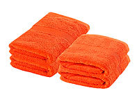 Wilson Gabor Handtuch-Set 2x 50x100 cm & 2x 140x70 cm, orange